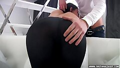 FirstAnalQuest.com - Arse PORN WITH A SEXY RUSSIAN TEEN IN Cock-squeezing LEGGINGS