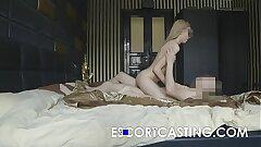 Skinny Blonde Teen Escort Anal invasion Casting