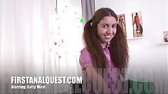 Hot anal sex with the lovely teenage beauty Katty West