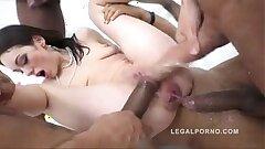 Teen hard anal gang-fuck