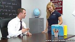 InnocentHigh Blonde diminutive tits stunner Lea Lexis classroom sex