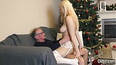 70 yr old man fucks Legal yr old girl she swallows all his jism