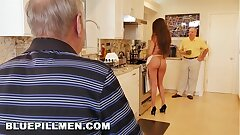 BLUE PILL MEN - Senior Men Have A Cookout With Teen Stripper Jeleana Marie