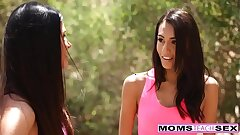 Hot Mom And Teen Trick Neighbor Fellow Into Tearing up