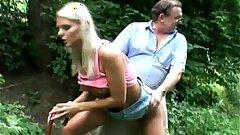 Pervert Dad Bangs Super hot Blonde Nubile At The Park