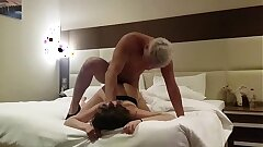 fucked a prostitute in a hotel ! voyeur (part 2) cum in mouth