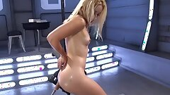 Uber-cute Blonde Gets Schooled By Robot Dildos