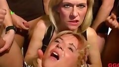 cougar brings her stepdaughter to a gangbang - germangoogirls