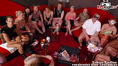 real german swinger party with young duo