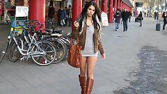 Supersexy 18yo micro-skirt Bitch fucked in public in Berlin